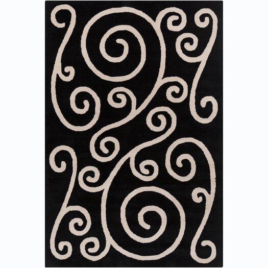 Filament  LLC Cinzia Black / Beige Area Rug