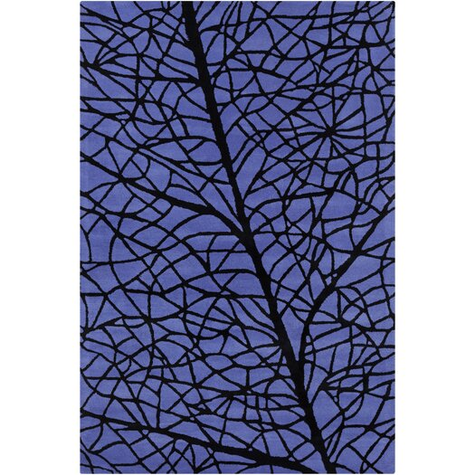 Filament  LLC Cinzia Blue / Black Abstract Area Rug