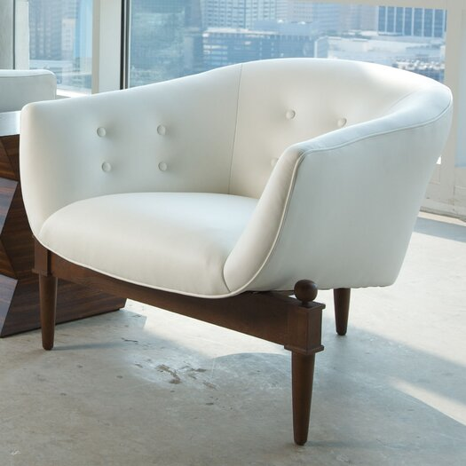 Global Views Mimi Leather Lounge Chair
