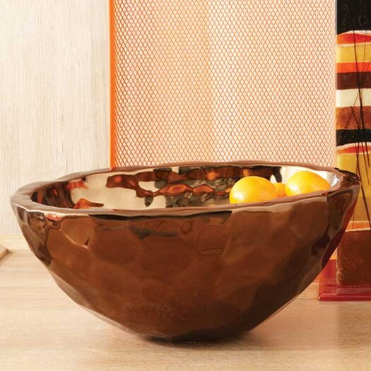 Global Views Bronze Nugget Oval Serving Bowl