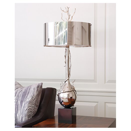 "Global Views Twig 40"" H Table Lamp with Drum Shade"