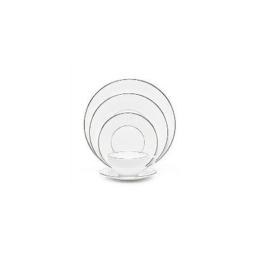 Jasper Conran Platinum Fine Bone China 5 Piece Place Setting Set