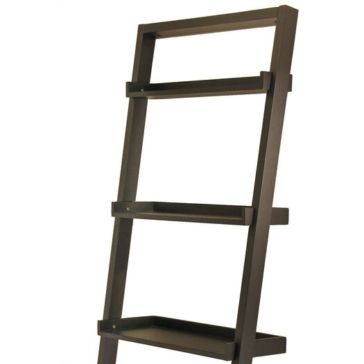 "Winsome Bailey 74.6"" Leaning Bookcase"