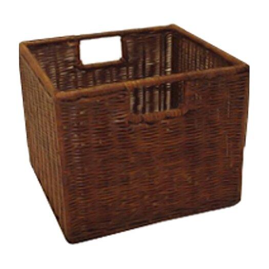 Winsome Espresso Wicker Storage Basket