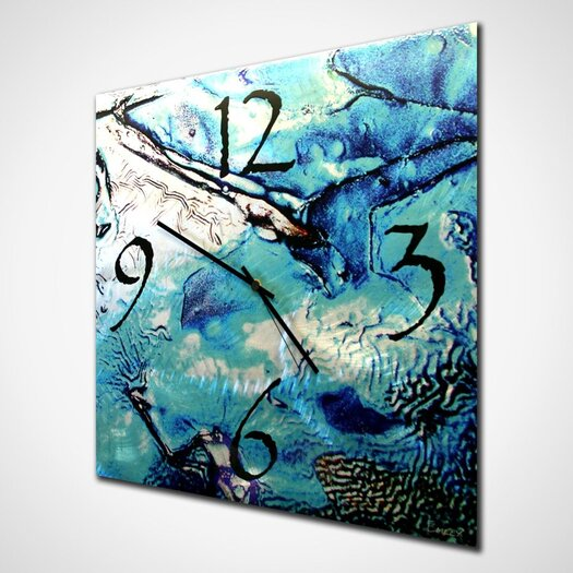 "Metal Art Studio 22"" Cool Jazz Wall Clock"