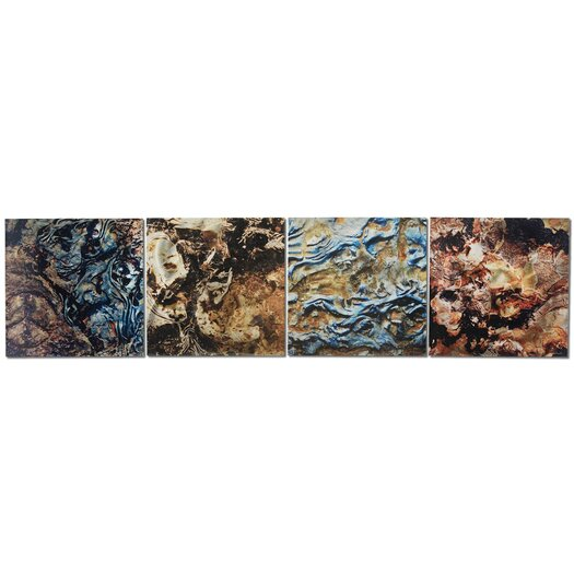 Metal Art Studio Mother Earth by Lish 4 Piece Graphic Art Plaque Set