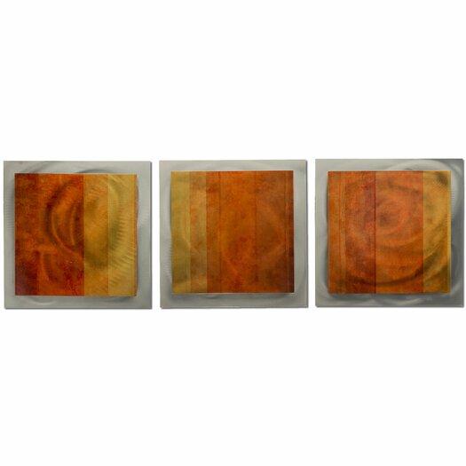 Metal Art Studio Essence Autumn 3 Piece Canvas Art Set