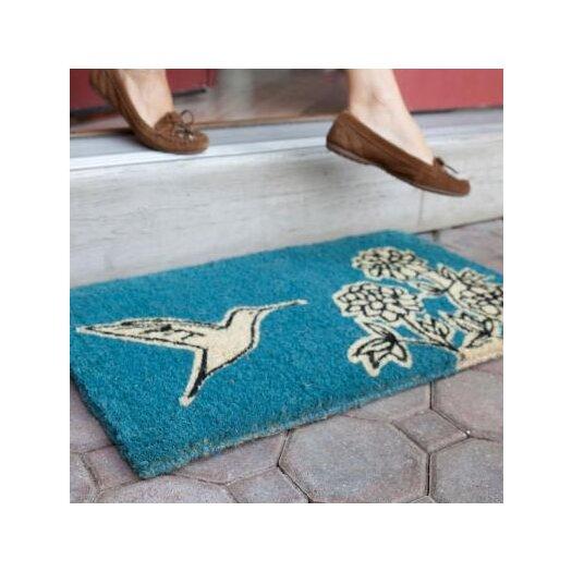 Entryways Flower and Hummingbird Doormat