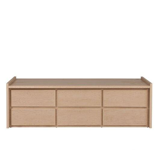 Urbangreen Furniture Thompson Twin 6 Drawer Storage Platform Bed