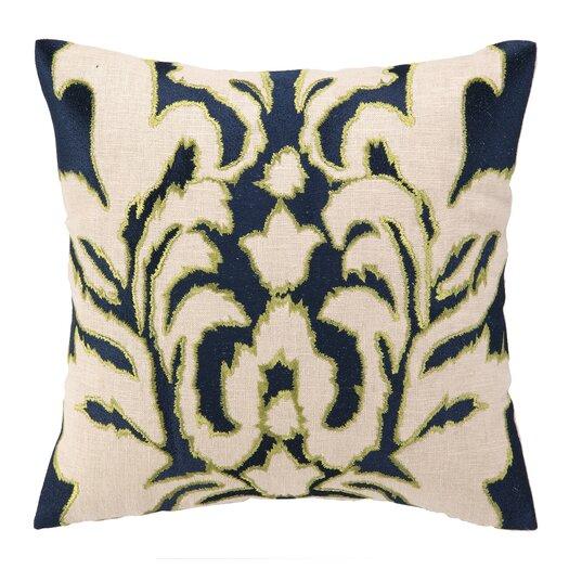 Courtney Cachet Courtney Cachet Ikat Embroidered Decorative Linen Throw Pillow