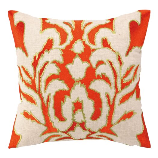 Courtney Cachet Courtney Cachet Ikat Embroidered Decorative Linen Throw Pillow