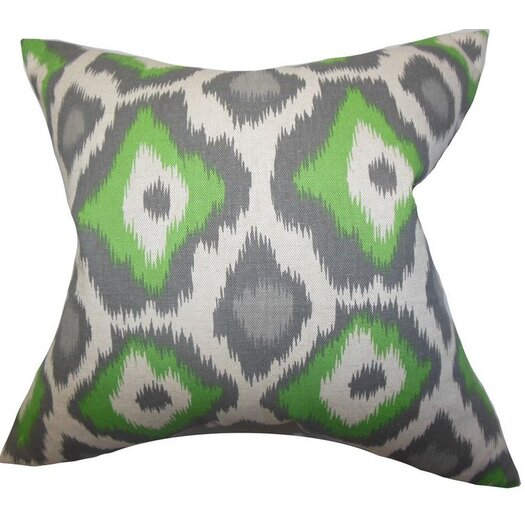 The Pillow Collection Becan Ikat Cotton Throw Pillow