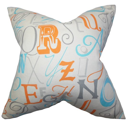 The Pillow Collection Scyler Typography Cotton Throw Pillow