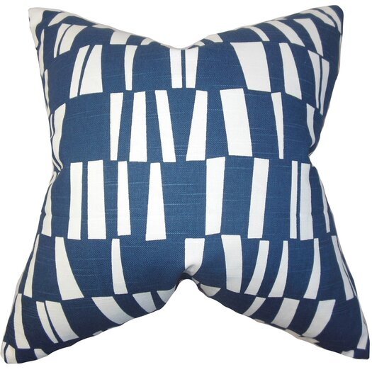 The Pillow Collection Iker Geometric Cotton Throw Pillow