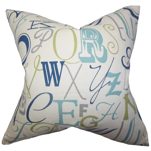 The Pillow Collection Scyler Typography Cotton Throw Pillow