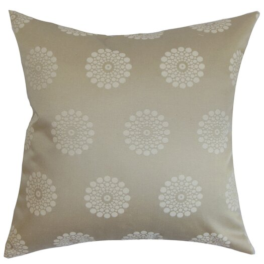 The Pillow Collection Flix Geometric Cotton Throw Pillow