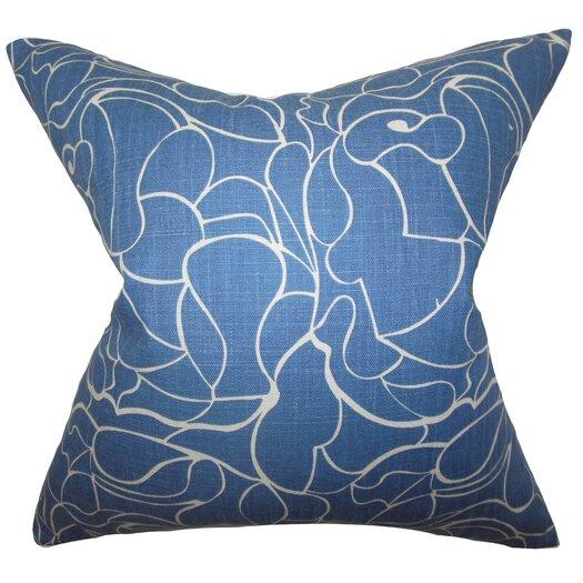 The Pillow Collection Floral Cotton Throw Pillow