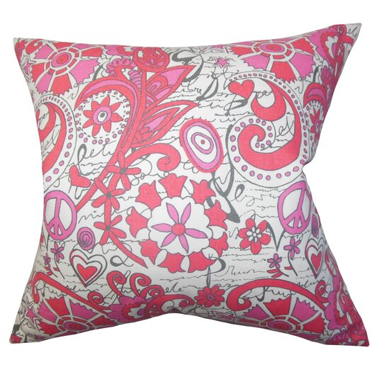 The Pillow Collection Adelpha Floral Cotton Throw Pillow