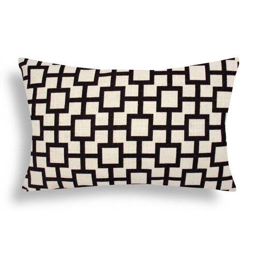 Domusworks Lattice Cotton Lumbar Pillow