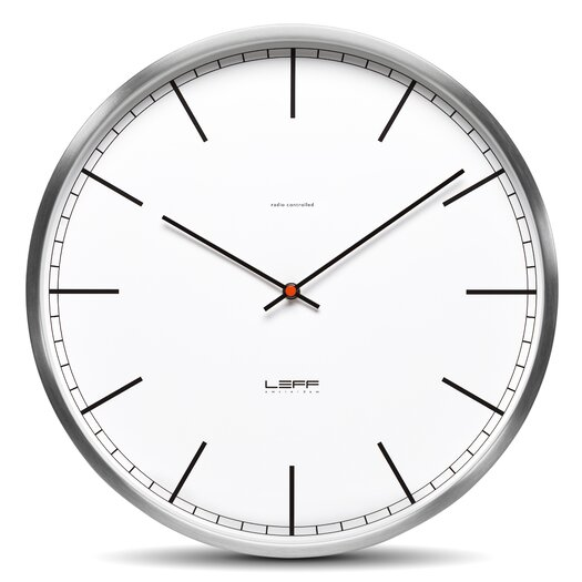 "Leff Amsterdam One35 13.78"" Stainless Steel Wall Clock"