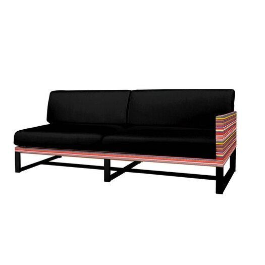 Mamagreen Stripe Aluminum / Mesh Left Sofa with Cushion