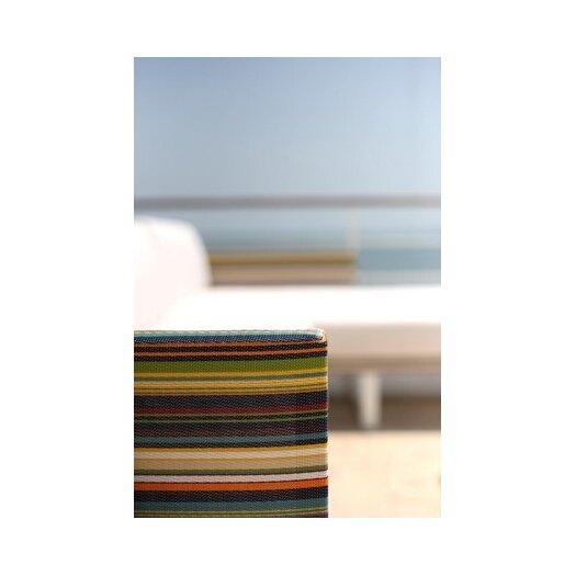 Mamagreen Stripe Aluminum / Mesh Right Sofa with Cushion