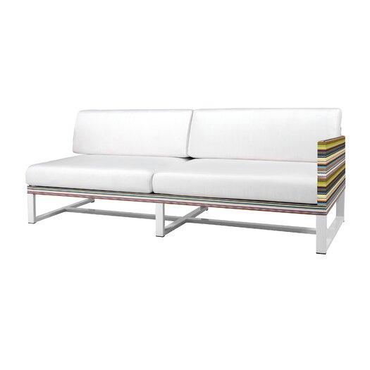 Stripe Aluminum / Mesh Left Sofa with Cushion