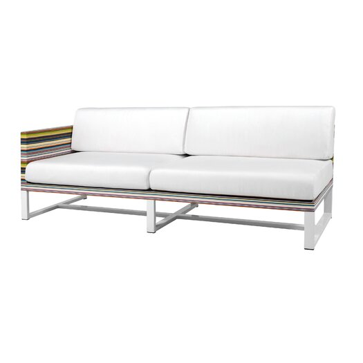 Mamagreen Stripe Aluminum / Mesh Right Sofa with Cushion