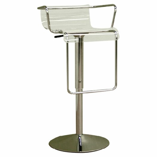 Wholesale Interiors Chartreuse Adjustable Height Swivel Bar Stool