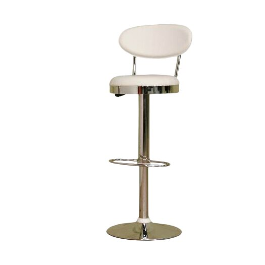 Wholesale Interiors Chardonnay Adjustable Height Swivel Bar Stool with Cushion