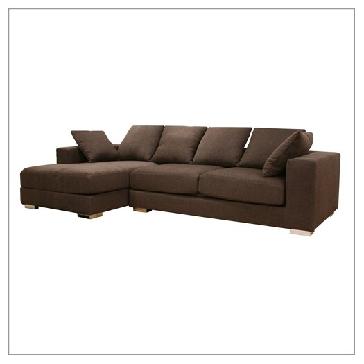 Wholesale Interiors Baxton Studio Left Hand Facing Sectional