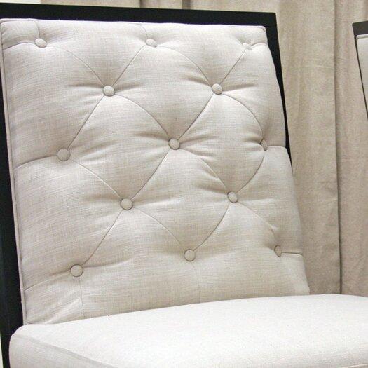 Wholesale Interiors Baxton Studio Bristol Tufted Modern Fabric Slipper Chair