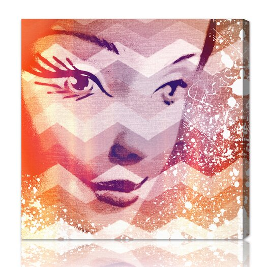 Oliver Gal Burst Creative Doll in Orangina Graphic Art on Wrapped Canvas