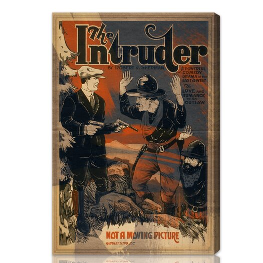 "Oliver Gal The Art Cabinet """"The Intruder"""" Vintage Advertisement on Canvas"