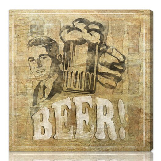 "Oliver Gal Hatcher & Ethan """"Beer"""" Graphic Art on Canvas"