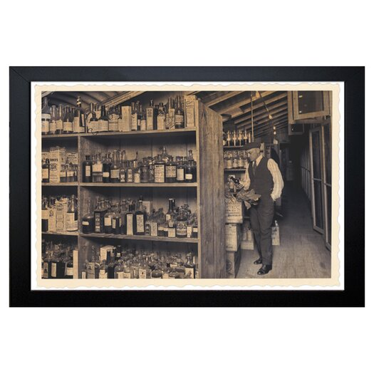Oliver Gal The Art Cabinet All those Old Bottles Framed Photographic Print