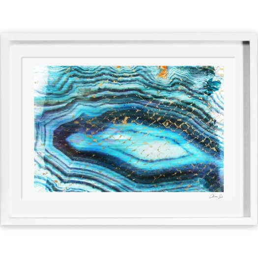 Canyon Gallery Sea of Turquoise Framed Painting Print