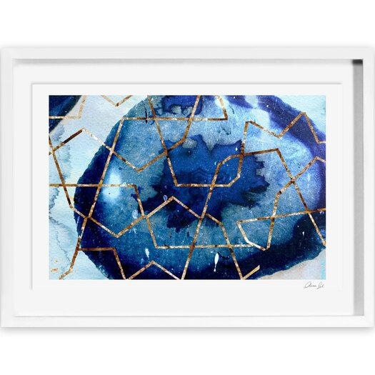 Canyon Gallery Raw Earth Blue Framed Painting Print