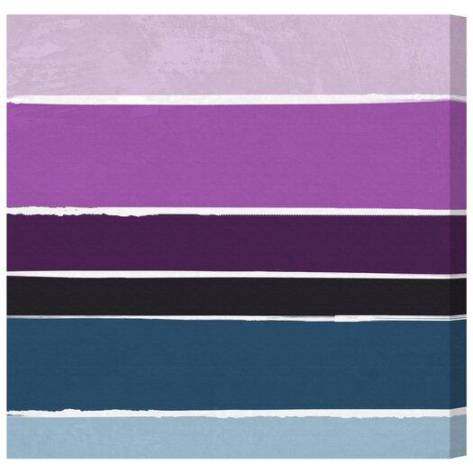 Artana Lavender Rain Painting Print on Wrapped Canvas