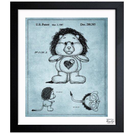 Oliver Gal Carebears -�Brave Heart Lion 1987 Framed Painting Print