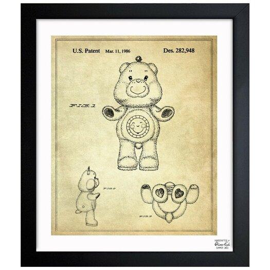 Oliver Gal Carebears -�Sunshine Bear 1986 Framed Painting Print