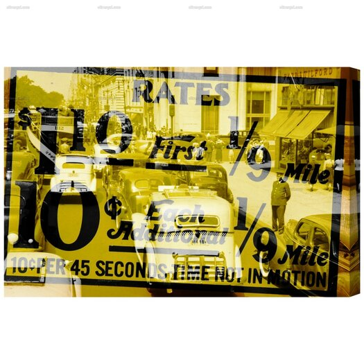 Canyon Gallery New York Cab Rates Graphic Art on Wrapped Canvas