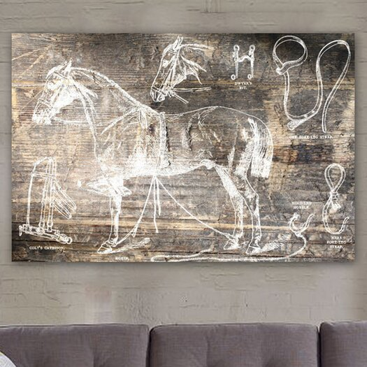 Oliver Gal Canyon Gallery Horse Breaking Guide Graphic Canvas Art