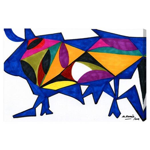 Oliver Gal Bull Sunrise Graphic Art on Canvas