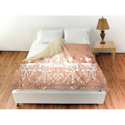 Oliver Gal Home Dramatic Entrance Rose Duvet Cover