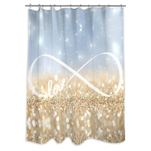 Oliver Gal Home Infinite Love Sign Shower Curtain
