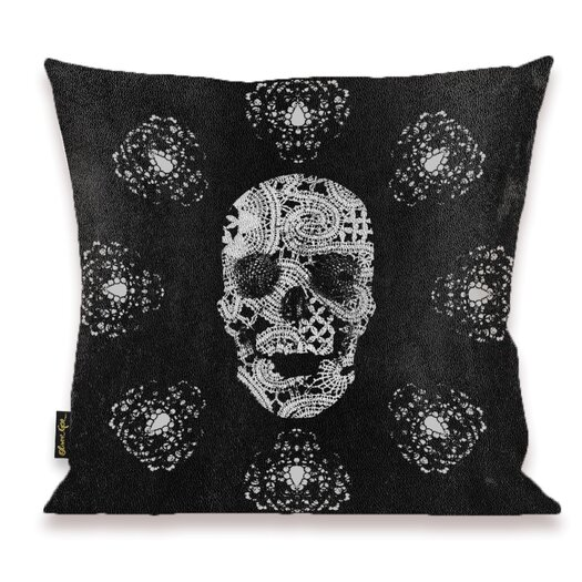 Oliver Gal Home Lace and Leather Throw Pillow
