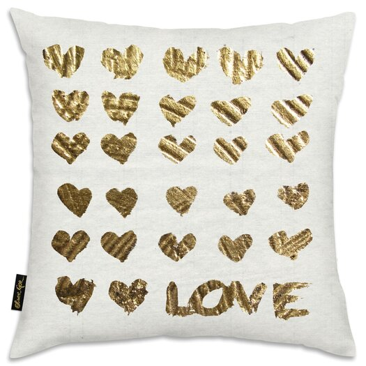 In The Papers Gold Throw Pillow