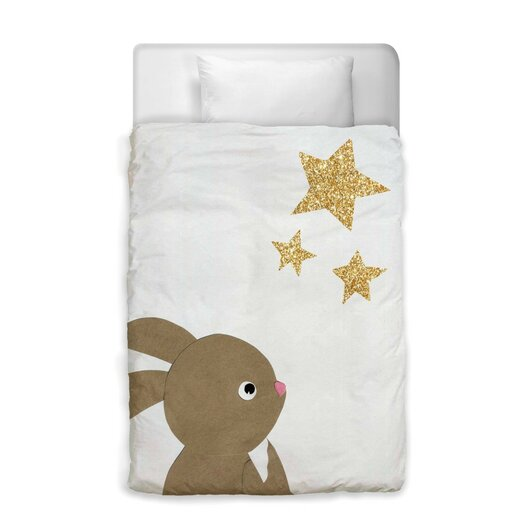Easel Bunny and The Stars Duvet Cover