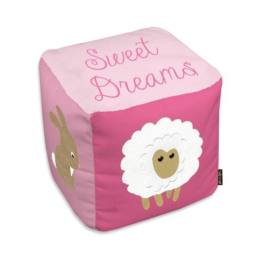 Easel Sweet Dreams Light Pink Ottoman